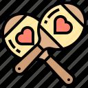 instrument, maracas, music, shaker, sound icon