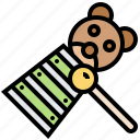 children, instrument, music, toy, xylophone icon