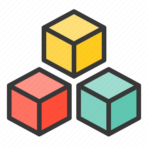 baby, bauble, block, game, plaything, toy, toy block icon