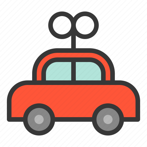 bauble, car, plaything, toy, toy car, wind up car icon