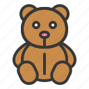 baby, bauble, doll, game, plaything, teddy bear, toy icon