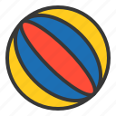 ball, bauble, beach ball, game, plaything, toy icon