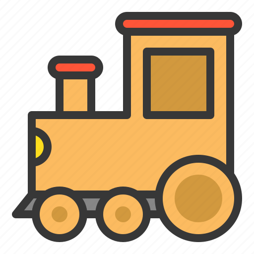 bauble, car, game, plaything, toy, toy train, train icon