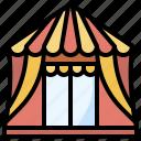 buildings, carnival, fairground, fun, tent