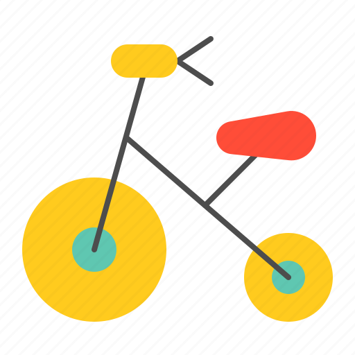 bauble, bicycle, bike, children, game, plaything, puzzle, toy icon