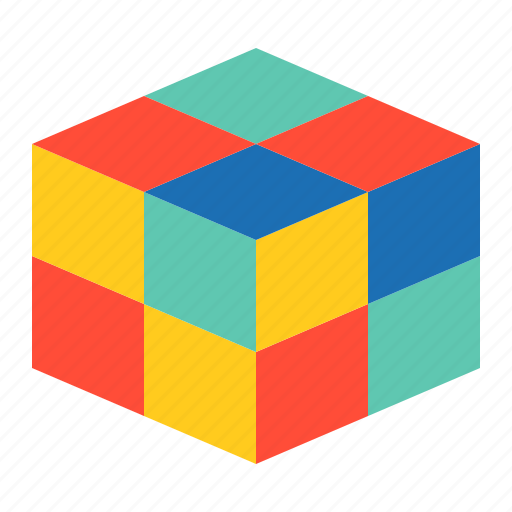 bauble, children, cubic, game, plaything, puzzle, toy icon