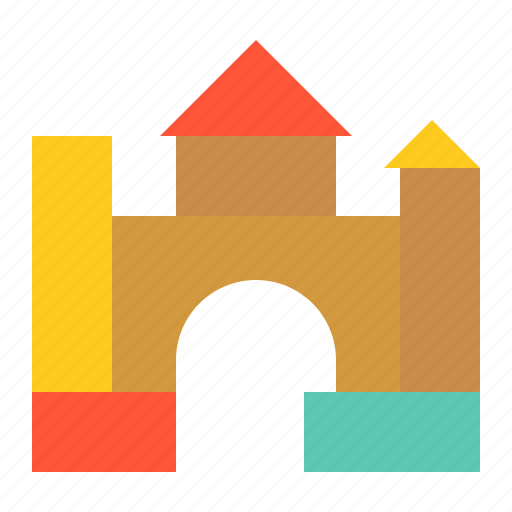 bauble, block, castle, children, game, plaything, puzzle, toy icon