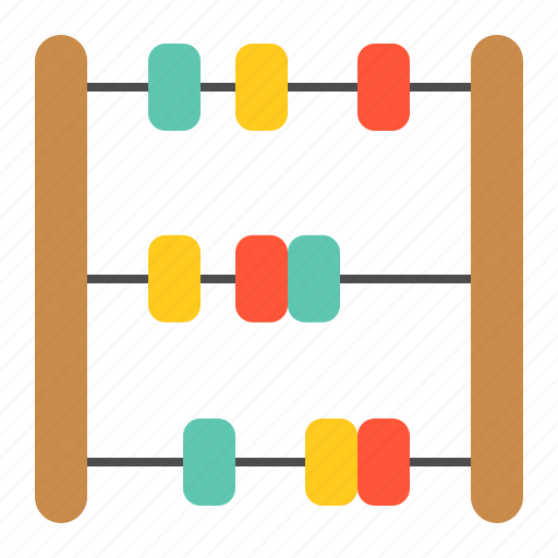 abacus, bauble, children, game, plaything, puzzle, toy icon