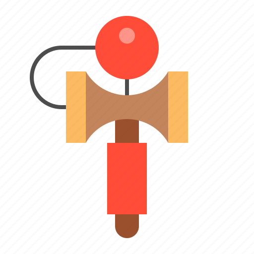bauble, children, game, kendama, plaything, puzzle, toy icon