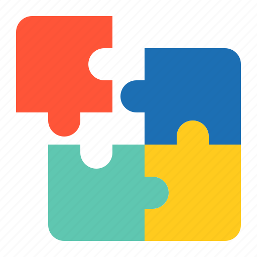 Toy, puzzle, jigsaw puzzle, jigzaw, bauble, game, children, plaything icon