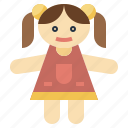 childhood, doll, female, toy, toys icon