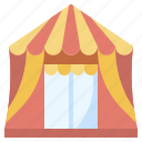 buildings, carnival, fairground, fun, tent icon