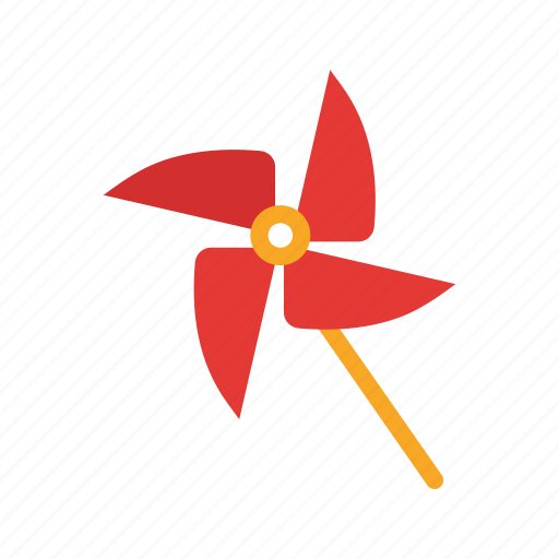 colors, cool, fan, pinwheel, propeller, toy, wind icon