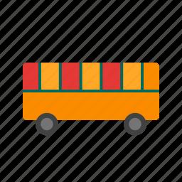 auto, automobile, blocks, bus, school, toy, transport icon