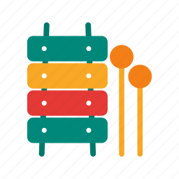 fun, instrument, music, toy, toys, wood, xylophone icon