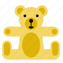 bear, kids, teddy, teddybear, toy icon