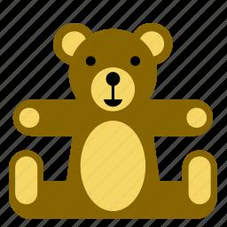 bear, kids, teddy, teddybear, toy icon
