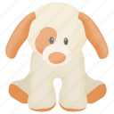 fluffy toy, soft toys, toy animal, toy pet, toy puppy icon