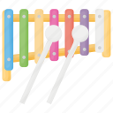 kids toy, musical instrument, percussion instrument, toy xylophone, xylophone icon
