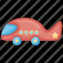 kids plane, plastic toy, remote toy, toy plane icon