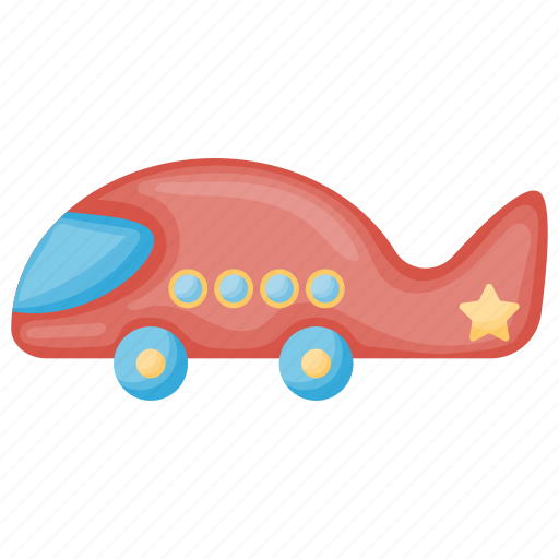 Kids plane, plastic toy, remote toy, toy plane icon - Download on Iconfinder