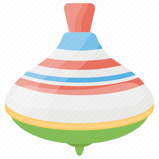 Childhood, kids toy, play, spinning top, toy top icon