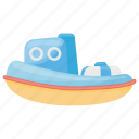 toy boat, kids toy, boat, kids boat, bath toy icon