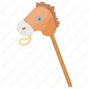 cock horse, hobby horse, kids toy, stick horse, toy horse