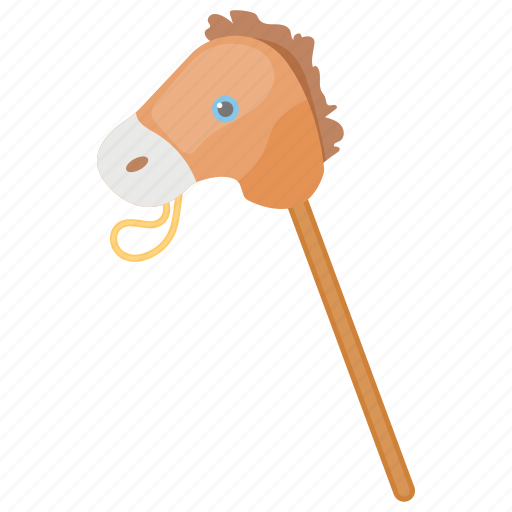 Cock horse, hobby horse, kids toy, stick horse, toy horse icon - Download on Iconfinder