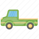 kids toy, pickup truck, toy lorry, toy pickup, toy truck icon