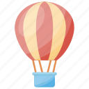 air balloon, baby shower, baby theme, fun time, nursery decoration icon