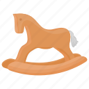 hobby horse, horse toy, kids toy, rocking horse, wooden horse icon