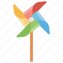 colorful toy, pinwheel, turbine toy, wind toy, wind turbine