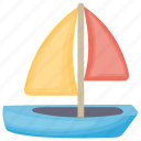 toy boat, kid toy, kids sailboat, boat, toy sailboat icon