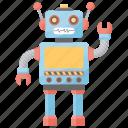 electric toys, humanoid robot, remote toys, technology toys, toy robot icon