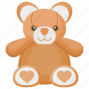 animal toy, fluffy toy, teddy, teddy bear, toy teddy icon