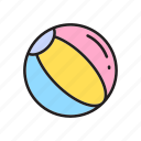 ball, beach ball, toy store, toys icon