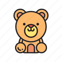 plush toy, teddy, teddybear, toys, toystore icon