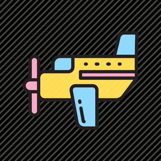 kindergarten, plane, toy store, toys icon