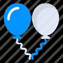 balloons, birthday balloons, decoration balloons, party balloons, party decorations icon