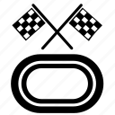 finish, flags, start, track, velotrack icon
