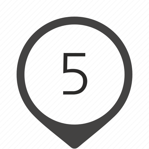five, formula, location, number, track icon