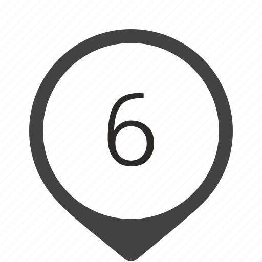 formula, location, number, six, track icon