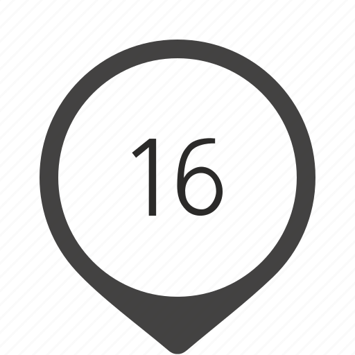 formula, location, number, sixteen, track icon