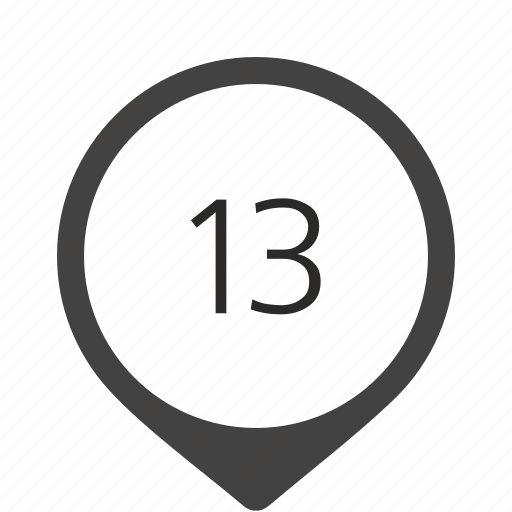 formula, location, number, thirteen, track icon