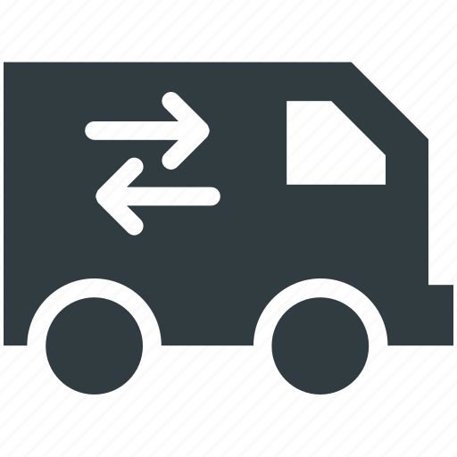 cargo, delivery car, lorry, shipping truck, vehicle icon
