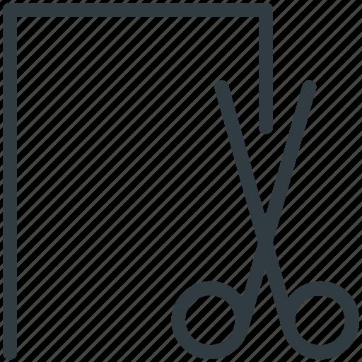 border line, coupon, discount, scissor, voucher icon