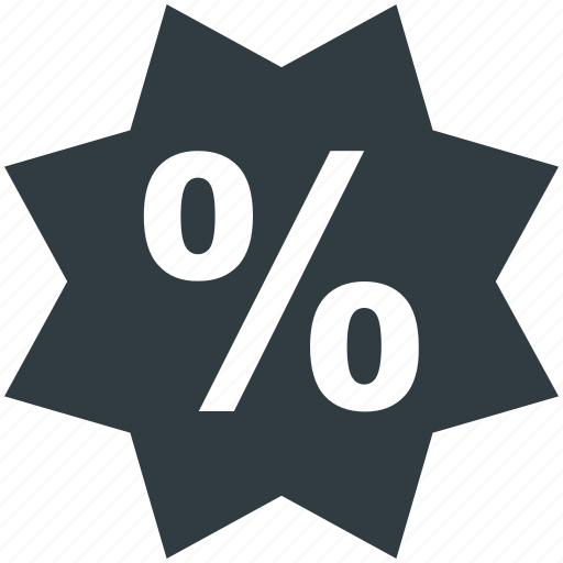 discount sticker, e-business, marketing, percentage sign, sale offer icon