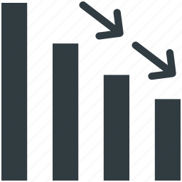 business chart, data chart, finance, graph report, loss chart icon