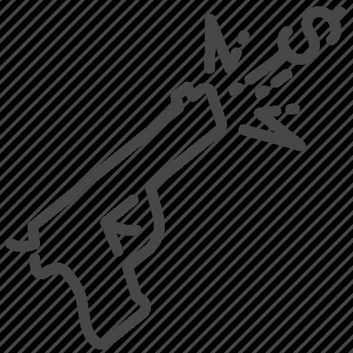 currency, damage, economic, pistol, trade war, trade wars, weapon icon